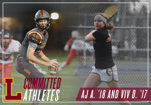 Committed Athletes, September 2016: Viv D. '17 and AJ A. '18