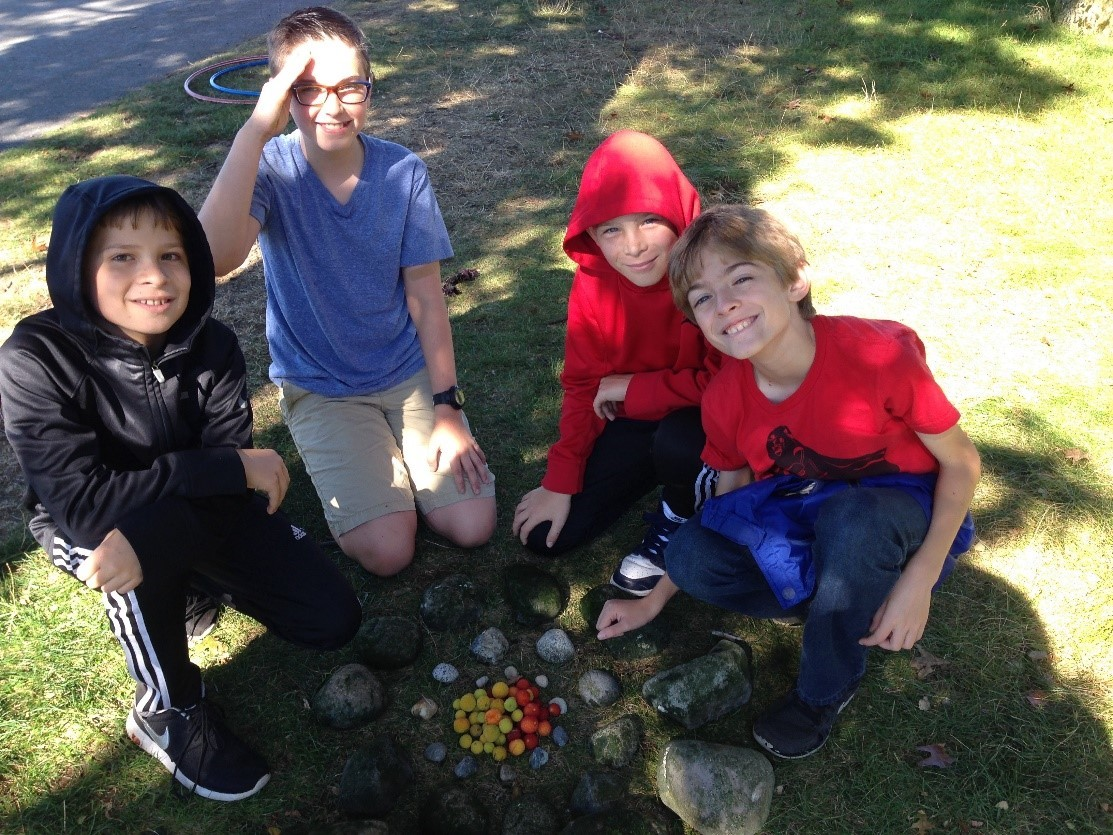 Art and bonding on the 6th-grade retreat