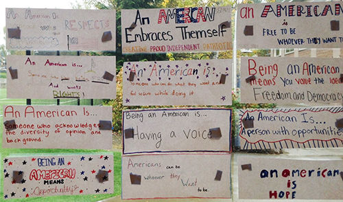 """An American Is..."" according to 7th graders"