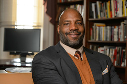 Historian and journalist Jelani Cobb speaks on Feb. 15