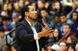 Speaker Gyasi Ross honors storytellers at MLK Day assemblies