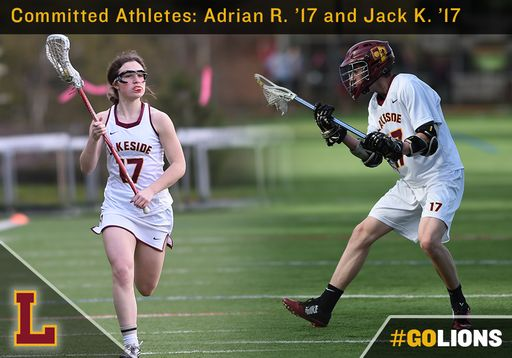 Committed Athletes: Jack K., '17 and Adrian R. '17