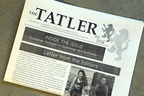 From the Tatler: Service Learning