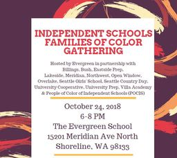 Oct. 24 Independent Schools Families of Color Gathering
