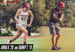 November Committed Athletes: Anna K. '20 and Danny T. '19