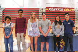Student-athletes celebrated at Lakeside Versus assembly