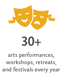 30+ arts performances, workshops, retreats, and festivals every year