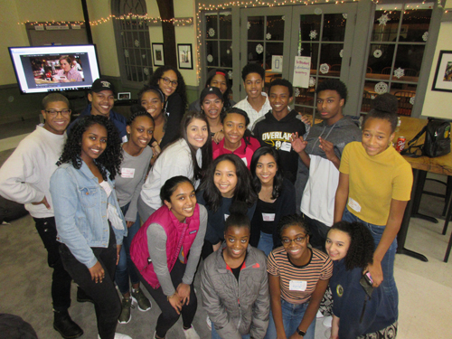 Building relationships at a students of color social