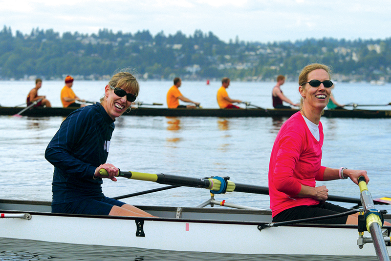 "Betsy McCagg Hills '85 and Mary McCagg-Larin '85: Racing with ""insanely powerful"" champs:"